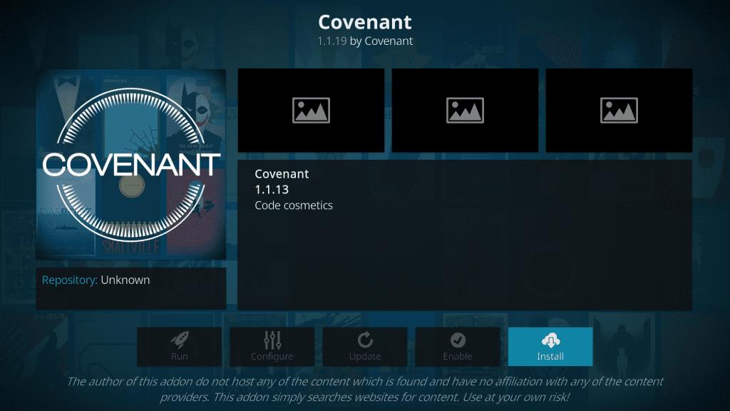 download Covenant Kodi