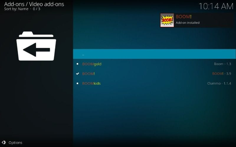 how to install boom addon on kodi