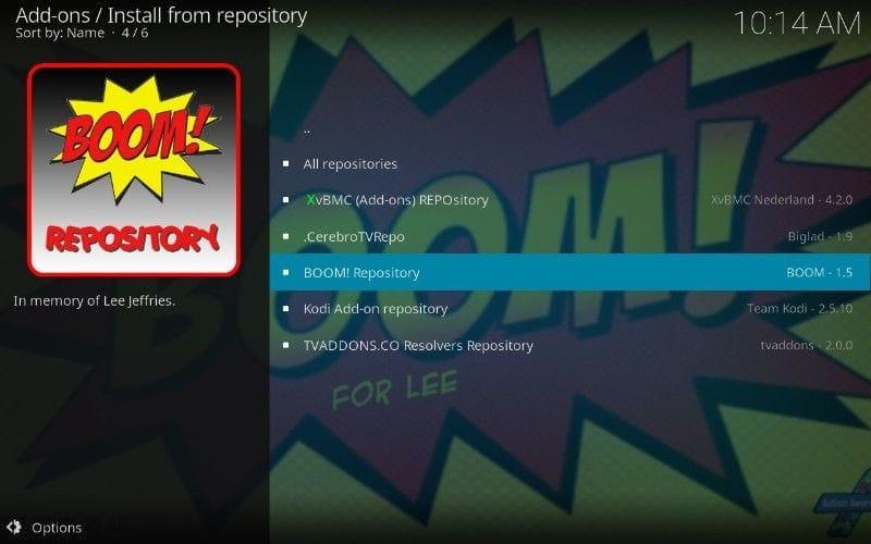 boom kodi addon repository