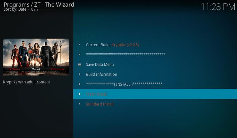 Kryptikz ZT Kodi Build install