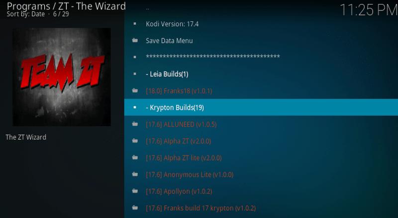 krypton builds Kryptikz ZT Kodi Build