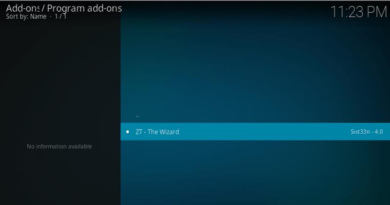 open zt the wizard