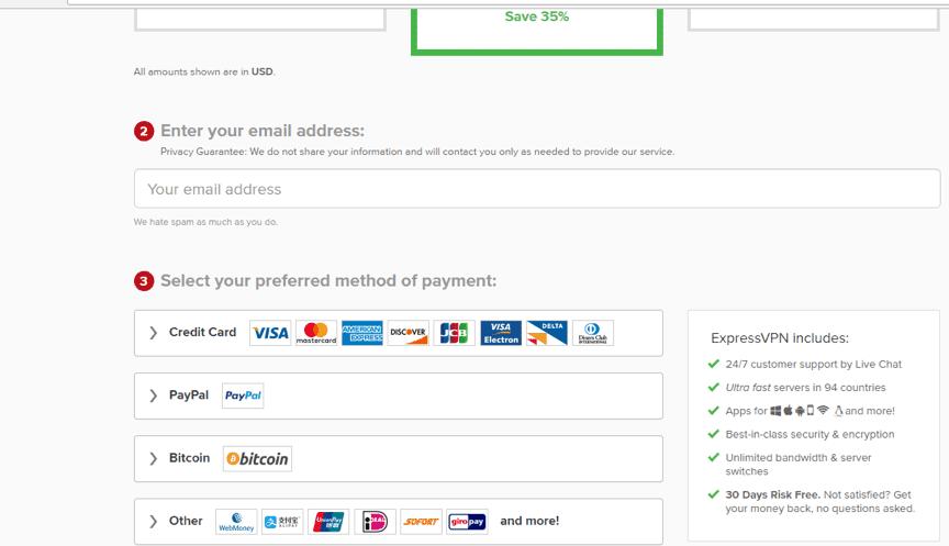 expressvpn payment
