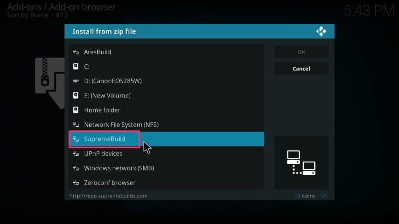 how to install supreme builds wizard on kodi