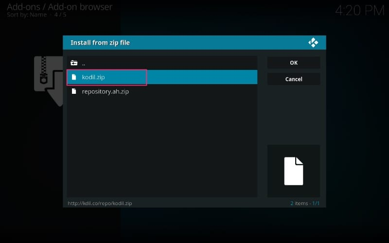 install kodi repository on kodi