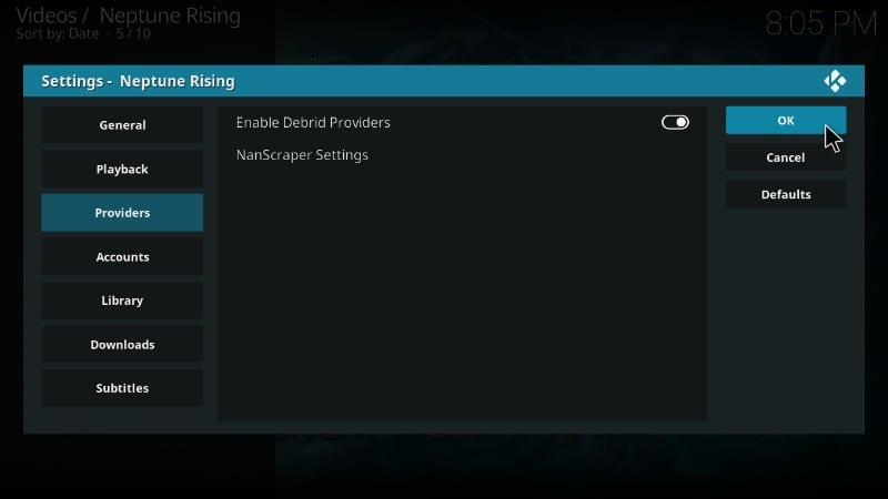 use real debrid with neptune risking kodi addon