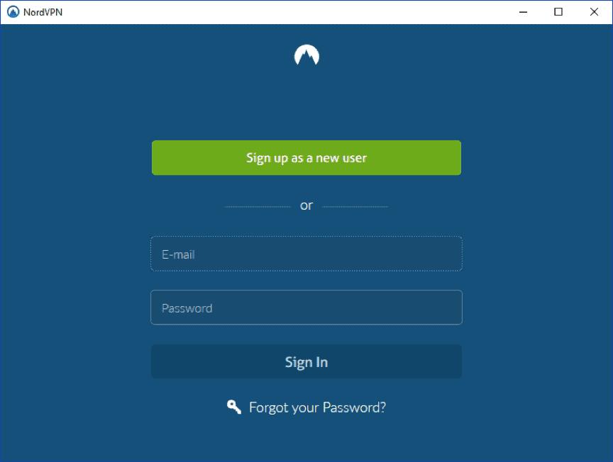 nordvpn login page