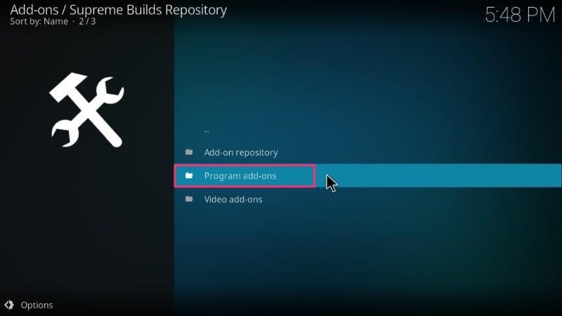 supreme builds program addons