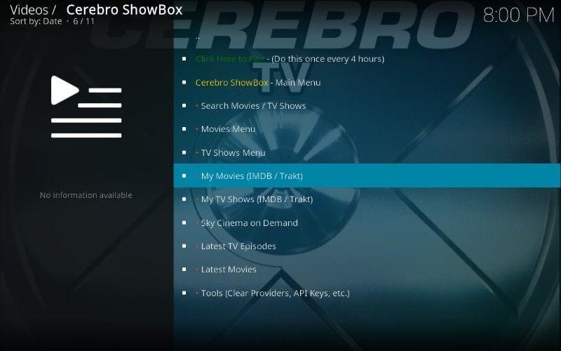 how to use cerebro showbox kodi addon