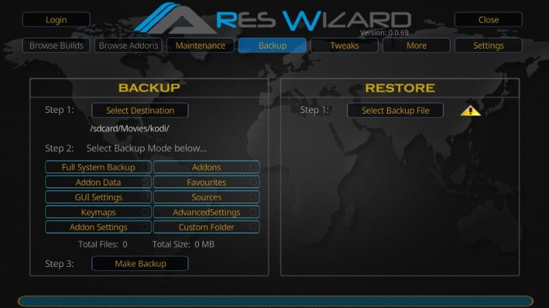 reset Kodi to default