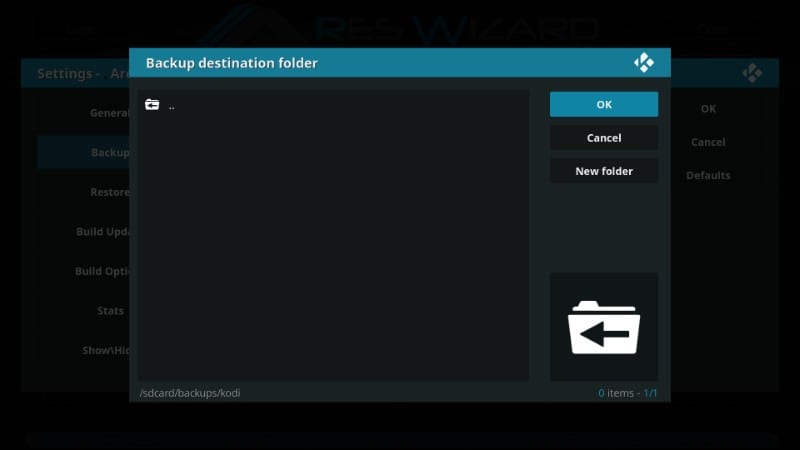 how to reset kodi