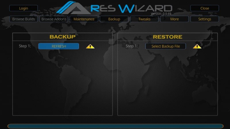 how to backup kodi before resetting