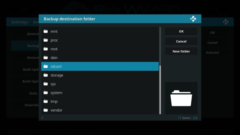 how to backup kodi dara