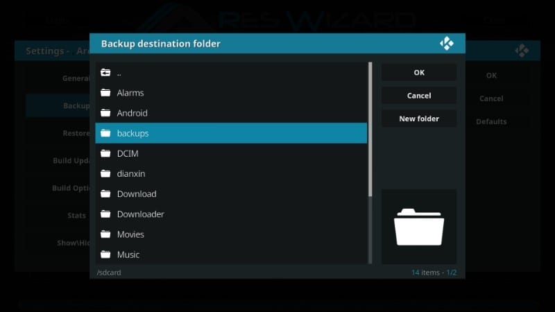 how to back up kodi on firestick