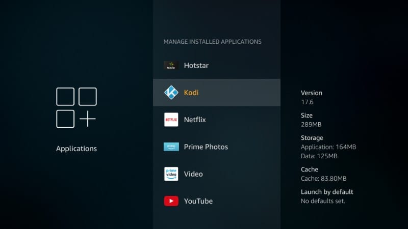 how to clear data on kodi