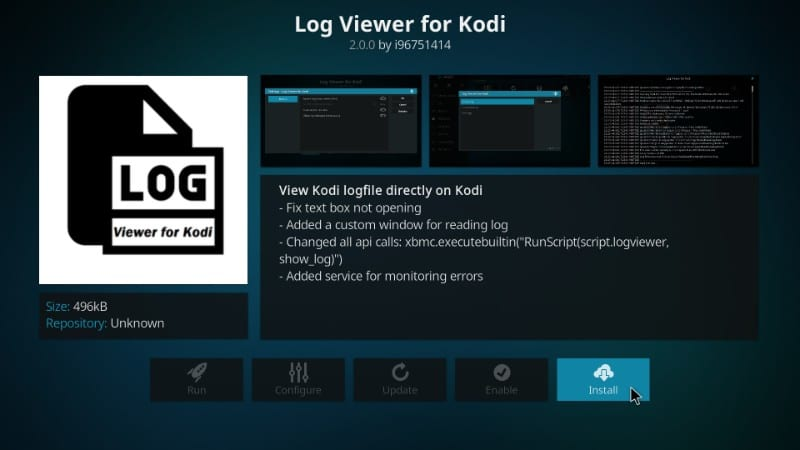 How to Check Kodi Error Log for More Information and Quick