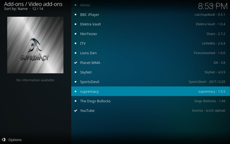 how to install supremacy kodi addon