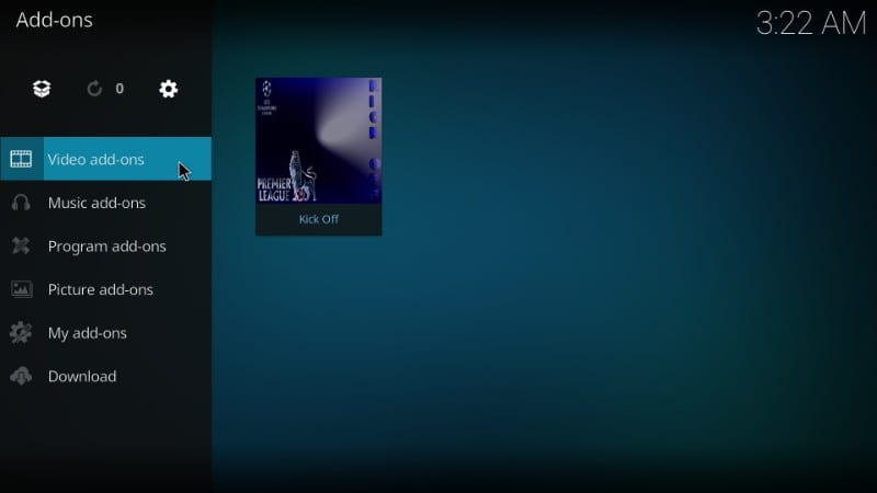 how to use kick off kodi addon