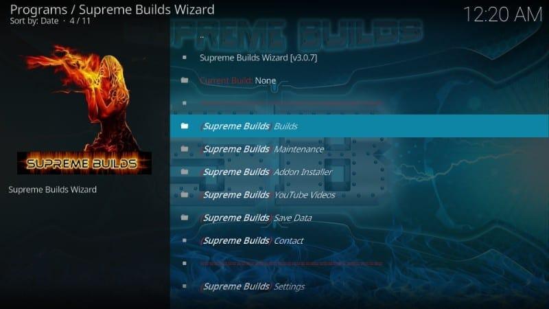 supreme builds wizard kodi