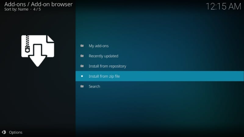 how to install Titanium on kodi
