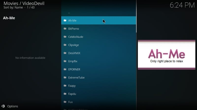 Where is the porn on kodi