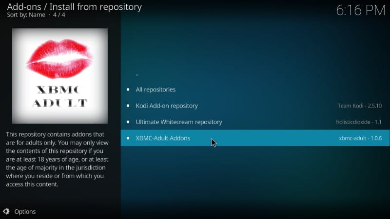 xbmc adult repository : how to install best kodi porn addons on kodi 18
