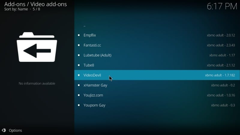 install videodevil kodi porn addon : best kodi porn addons on kodi leia 18 / kodi krypton 17.6