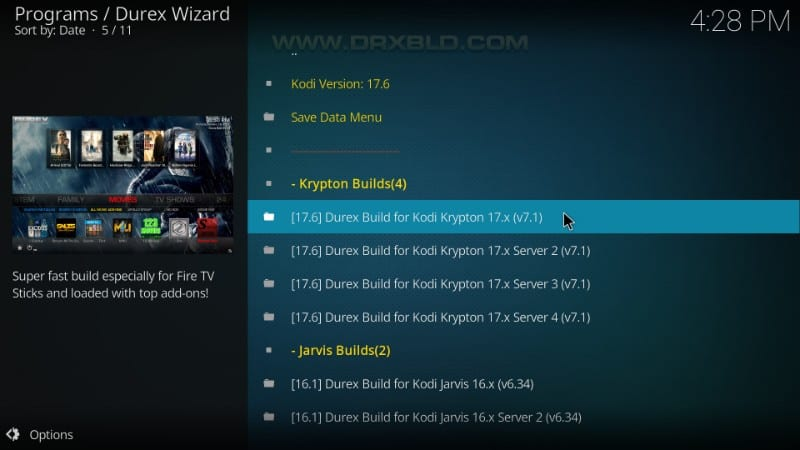 durex build for kodi krypton
