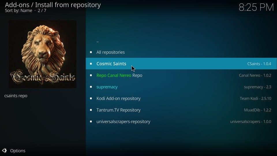 open cosmic saints repository