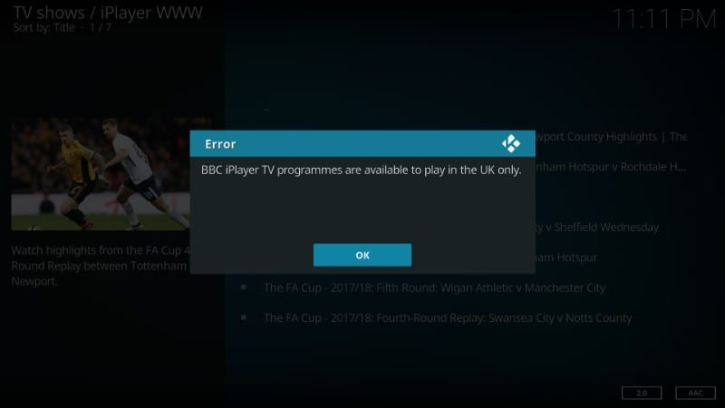 how to use iplayer www kodi addon outside uk