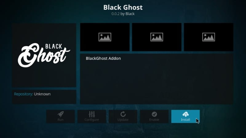 How to Install Black Ghost Kodi Addon on Kodi 17 6 Krypton