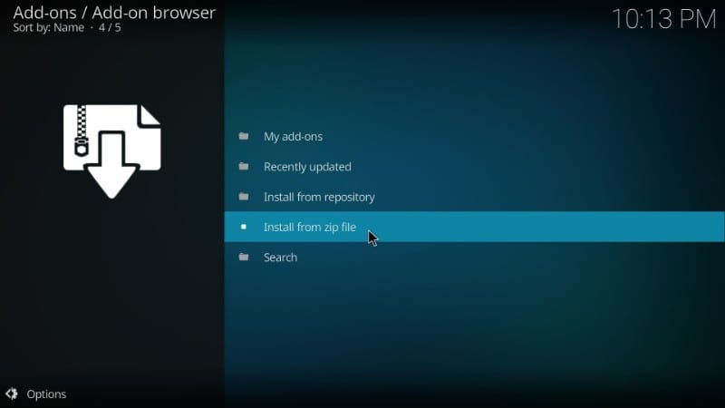 install from zip file on kodi : porn addons on kodi 18 and kodi 17.6
