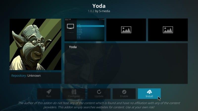 how to install yoda on kodi