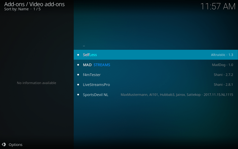 how to get selfless addon on kodi