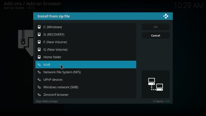 how to add ccloud on kodi