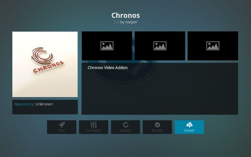 how to install Chronos on kodi