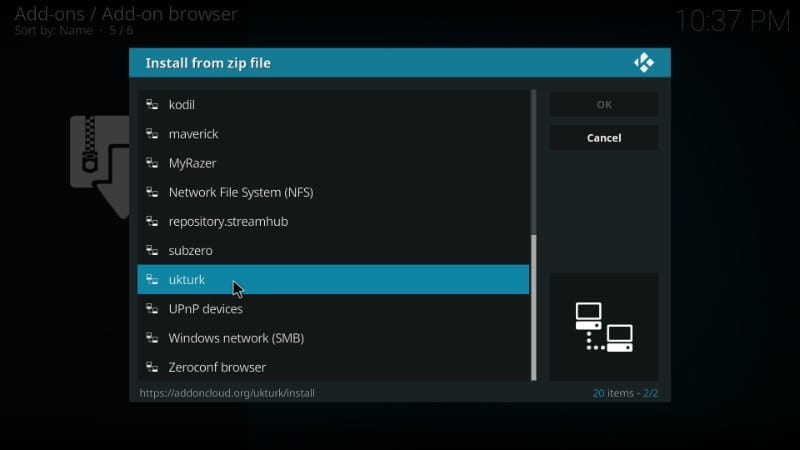 install uk turks on kodi