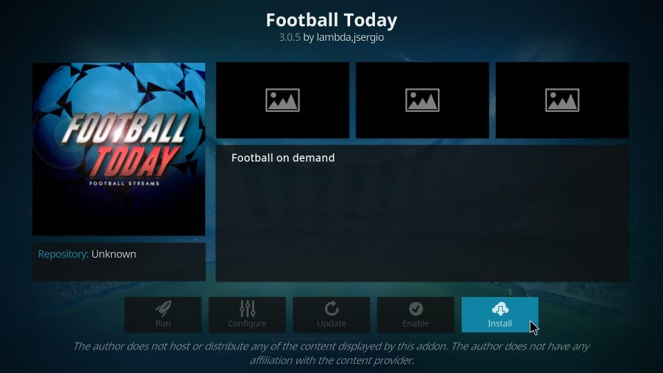 how to install football today kodi addon