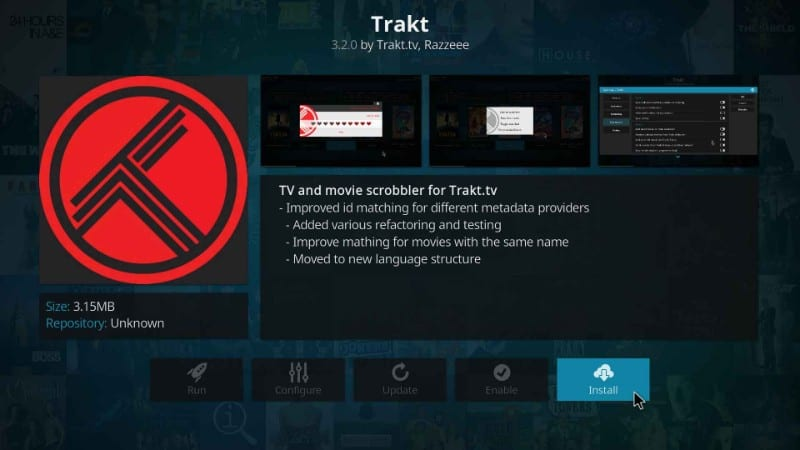 how to install trakt on kodi