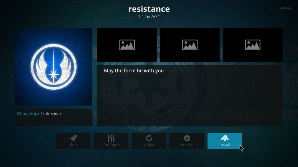 install resistance kodi addon