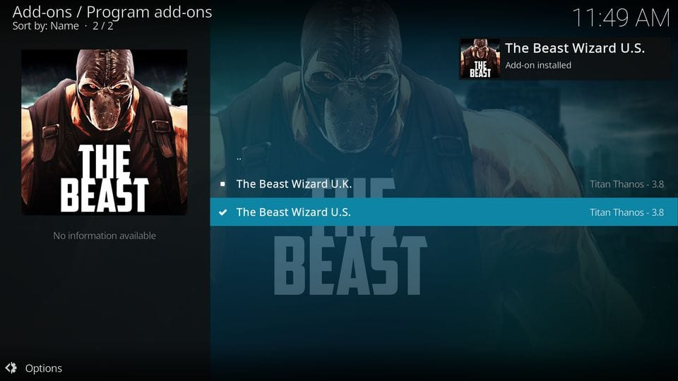 the beast kodi build