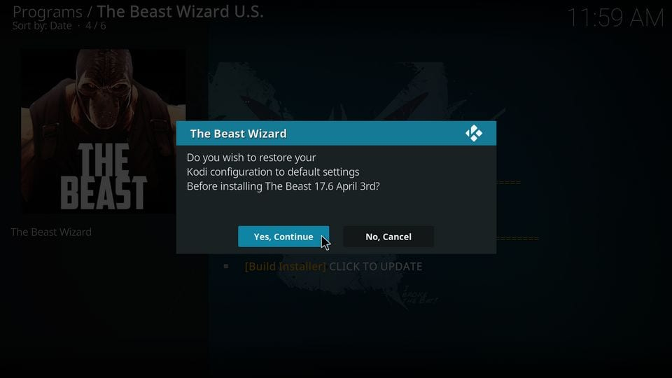 the beast kodi installation
