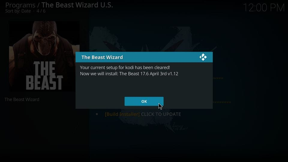 install the beast on kodi