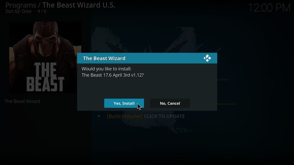 how to install the beast on kodi