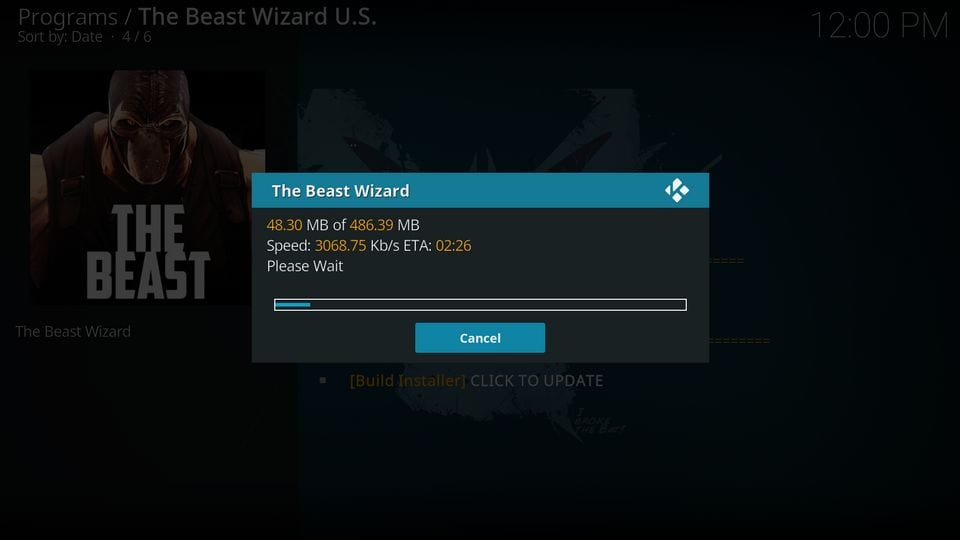 download the beast kodi build