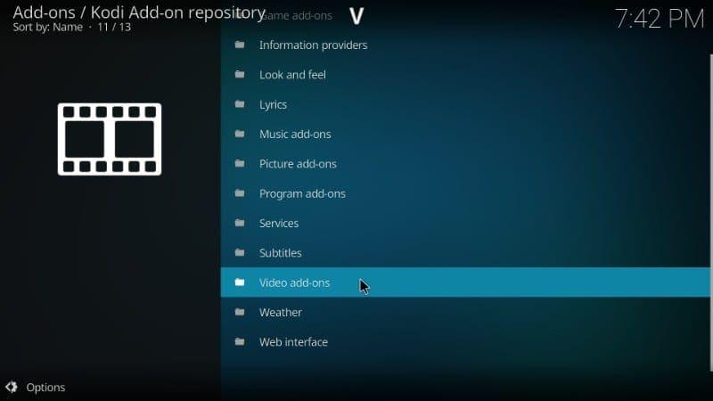 kodi video add-ons