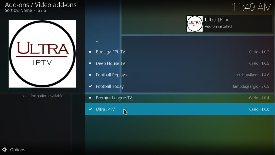 How to Install Ultra IPTV Addon on Kodi 17 6 Krypton - Fire Stick Tricks