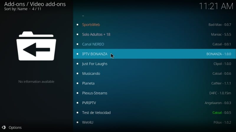IPTV Bonanza on kodi