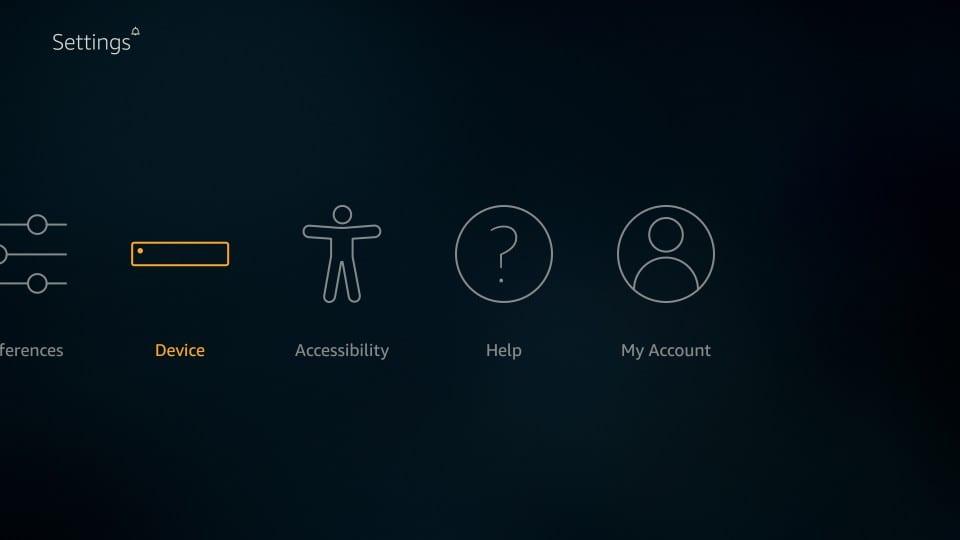 device in settings: morpheus tv