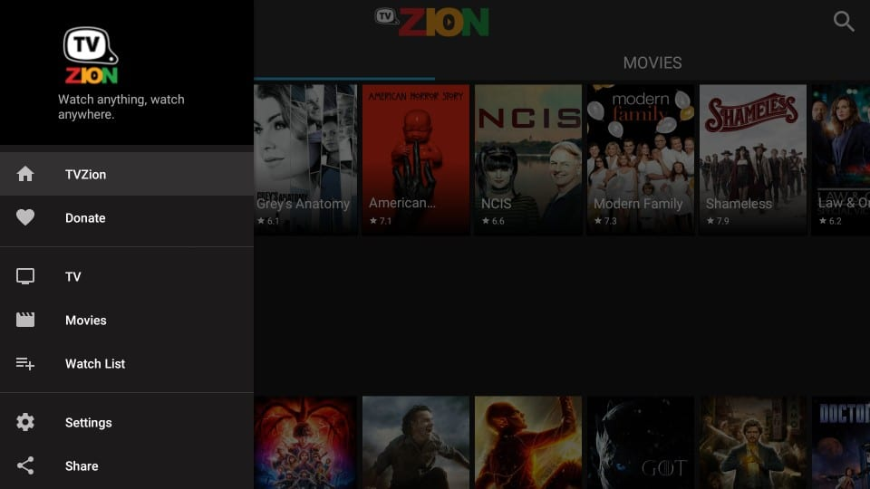tvzion app on firestick